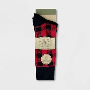 Men's 2pk Soft Warm Recycled Crew Socks U-109